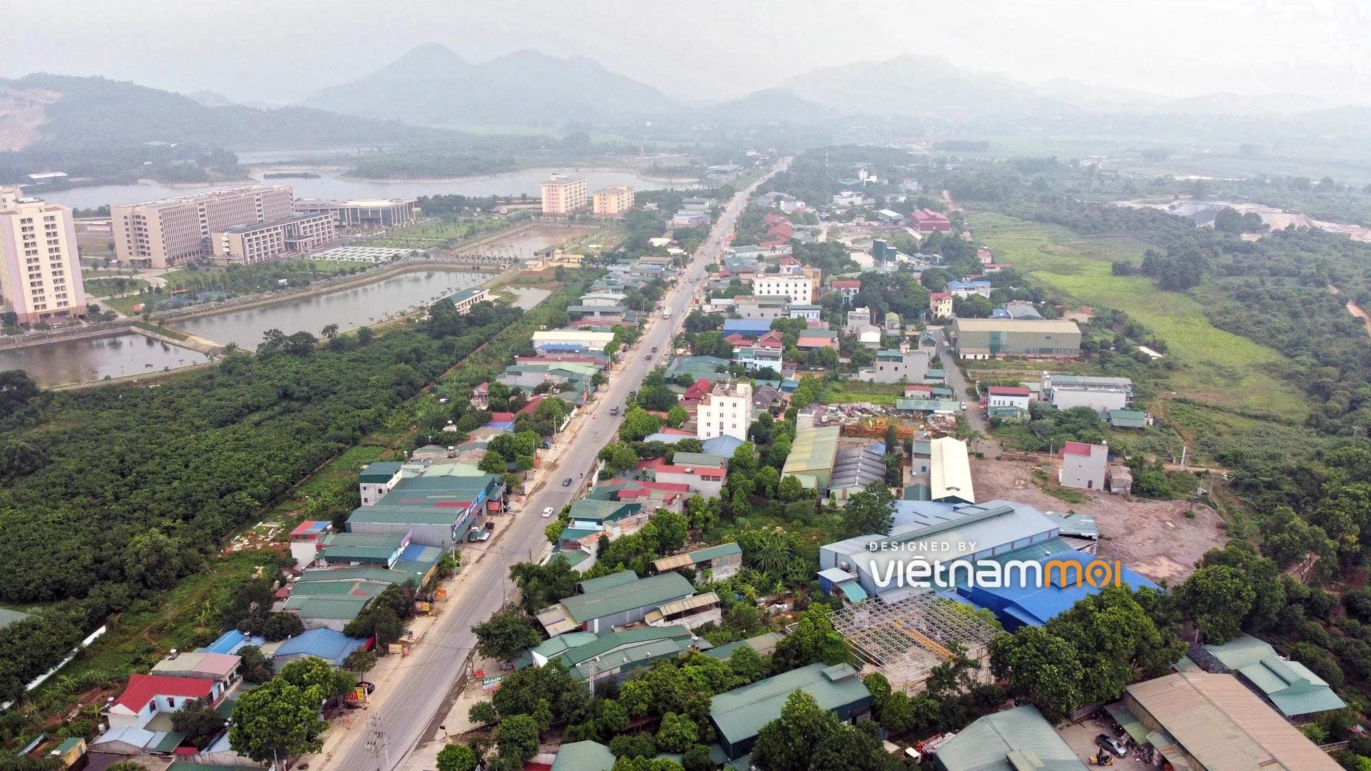 Huyện Quốc Oai sẽ thu hồi hơn 195 ha đất năm 2021, mở nhiều đường trong đó có đoạn vành đai Đô thị vệ tinh Hoà Lạc - Ảnh 1.