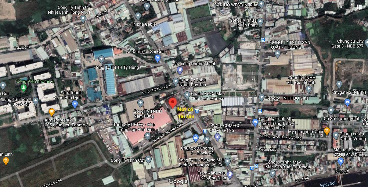 Đấu giá thửa đất kèm nhà xưởng rộng 2.348 m2 tại quận 8, TP HCM - Ảnh 1.