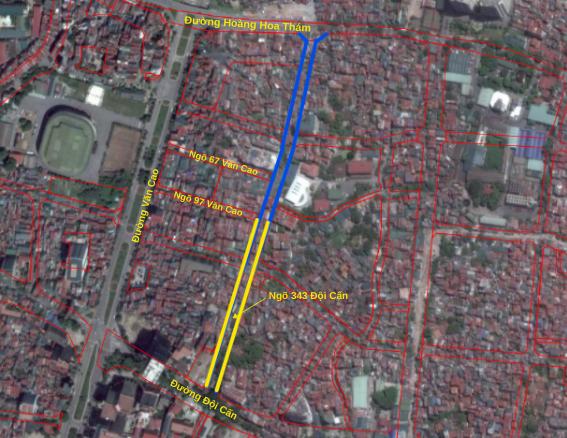 Đường sắp mở theo quy hoạch ở phường Liễu Giai, Ba Đình, Hà Nội (phần 2): Đường nối Đội Cấn - Hoàng Hoa Thám  - Ảnh 3.