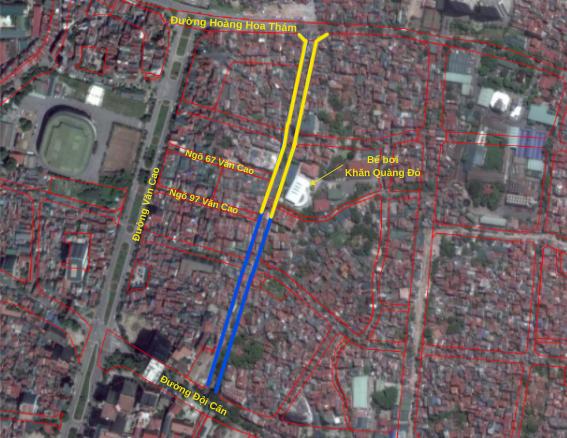 Đường sắp mở theo quy hoạch ở phường Liễu Giai, Ba Đình, Hà Nội (phần 2): Đường nối Đội Cấn - Hoàng Hoa Thám  - Ảnh 4.