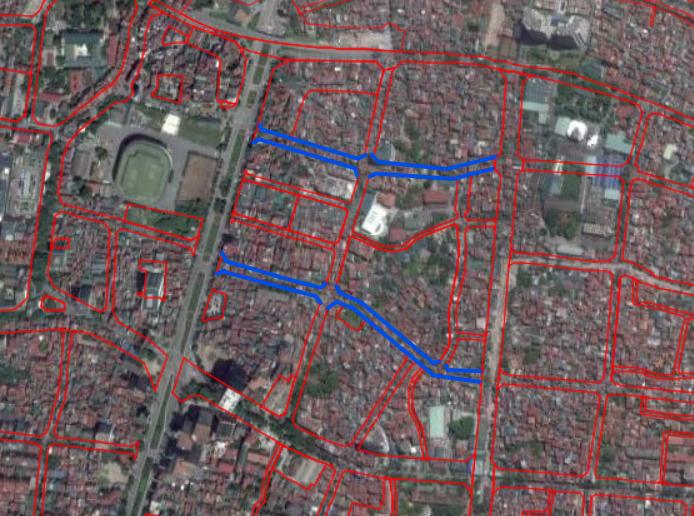 Đường sắp mở theo quy hoạch ở phường Liễu Giai, Ba Đình, Hà Nội (phần 3): Hai đường nối từ Văn Cao - đường Vạn Phúc - Hoàng Hoa Thám  - Ảnh 1.