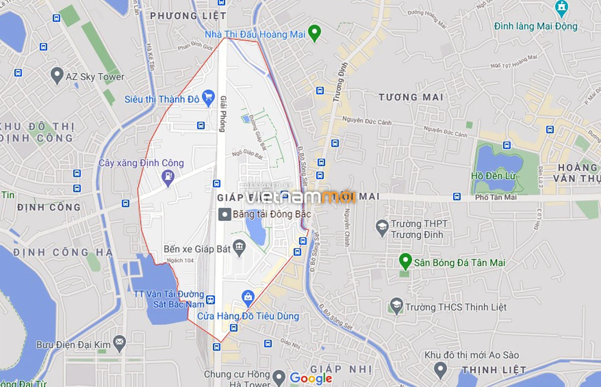 Đường sẽ mở theo quy hoạch ở phường Giáp Bát, Hoàng Mai, Hà Nội (phần 2) - Ảnh 1.