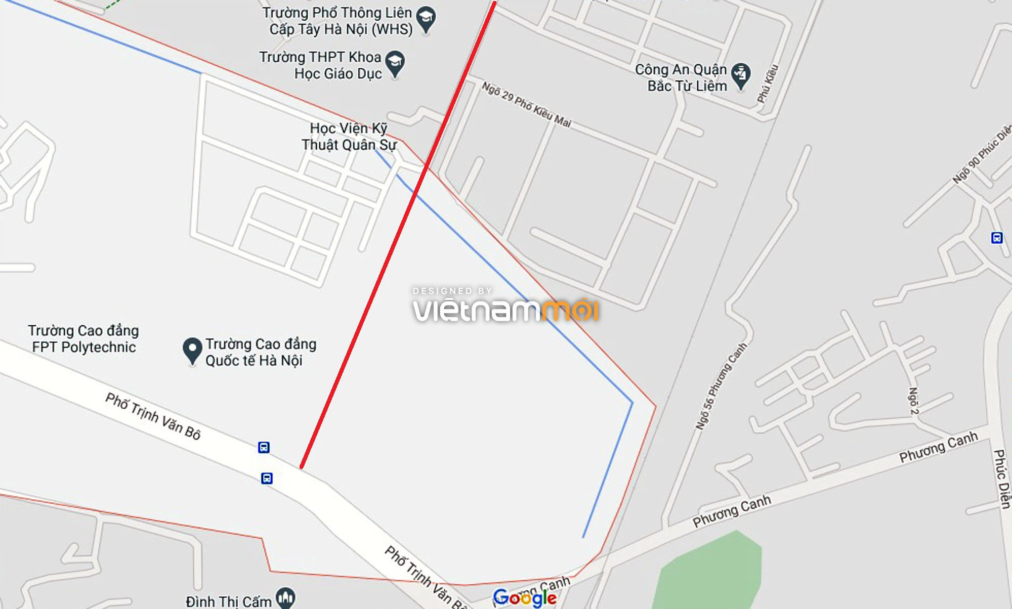 Đường sẽ mở theo quy hoạch ở phường Phương Canh, Nam Từ Liêm, Hà Nội (phần 2) - Ảnh 2.