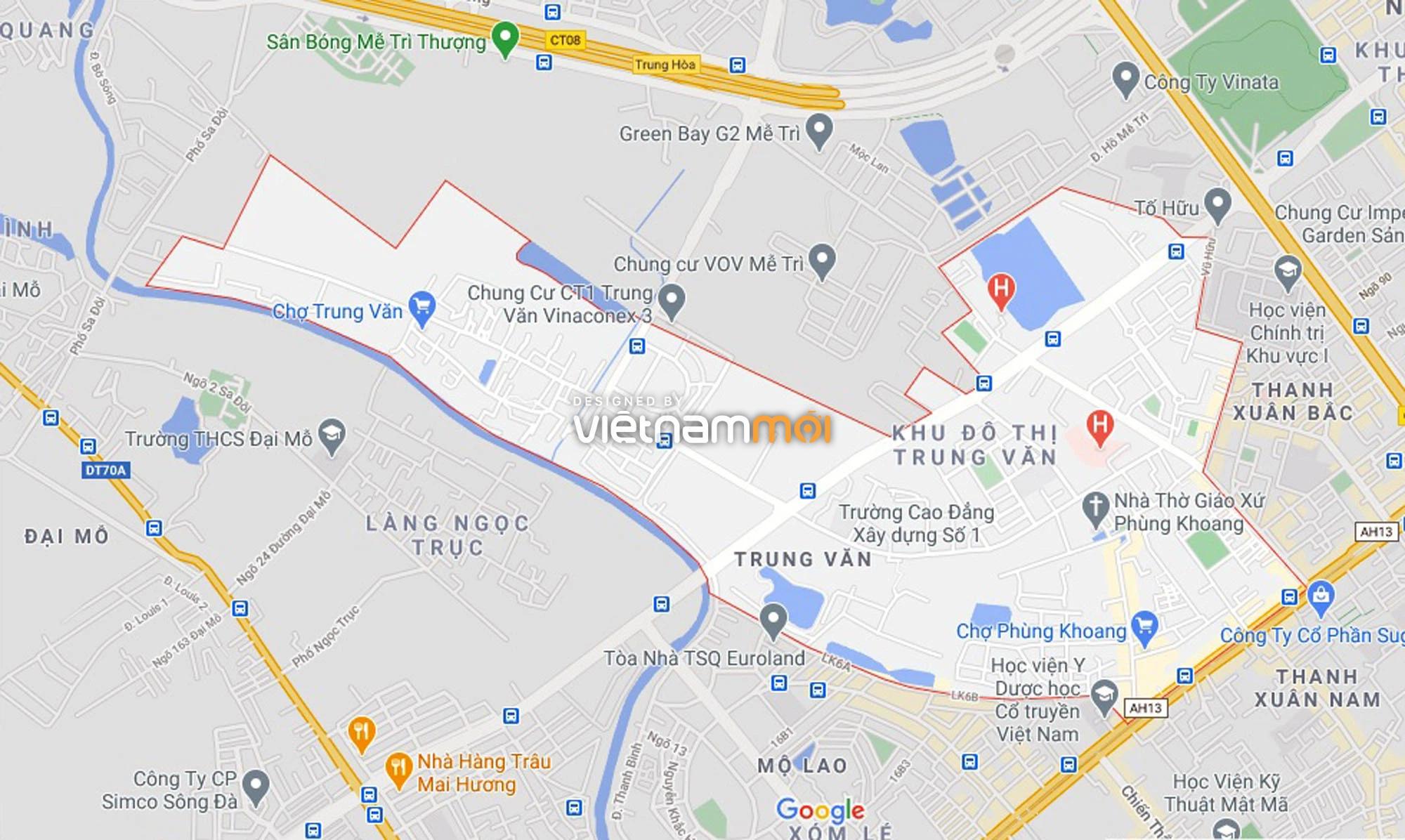 Đường sẽ mở theo quy hoạch ở phường Trung Văn, Nam Từ Liêm, Hà Nội (phần 2) - Ảnh 1.