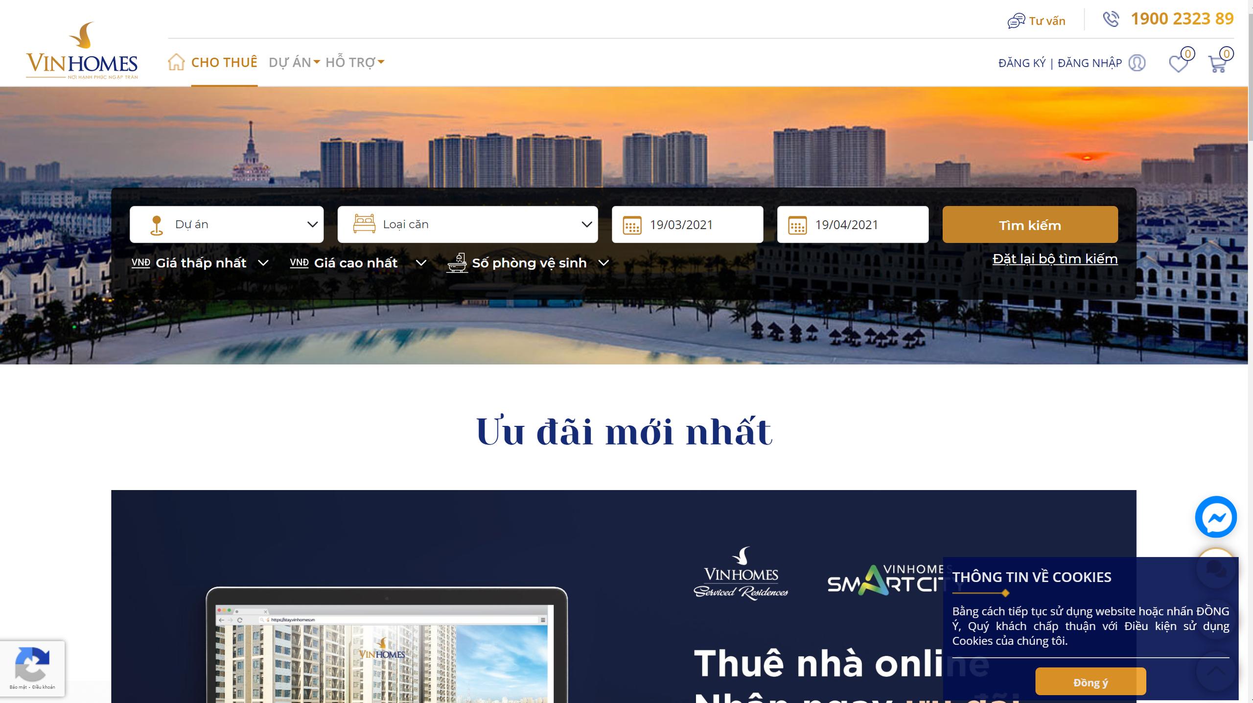 Vinhomes ra mắt sàn giao dịch thuê nhà online - Ảnh 1.