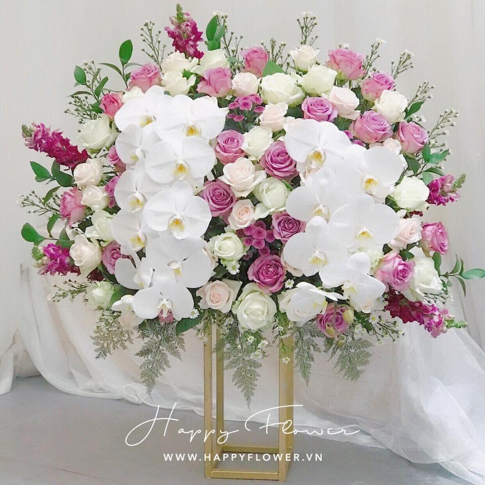 Tham khảo các mẫu lẵng hoa đẹp ngày 8/3 dành tặng phái nữ  - Ảnh 10.
