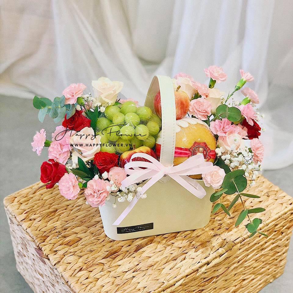Tham khảo các mẫu lẵng hoa đẹp ngày 8/3 dành tặng phái nữ  - Ảnh 12.