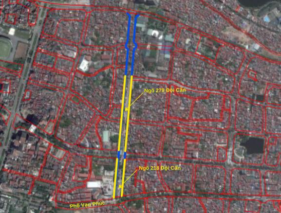 Đường sắp mở theo quy hoạch ở phường Liễu Giai, Ba Đình, Hà Nội: Đường Vạn Phúc - Hoàng Hoa Thám - Ảnh 3.