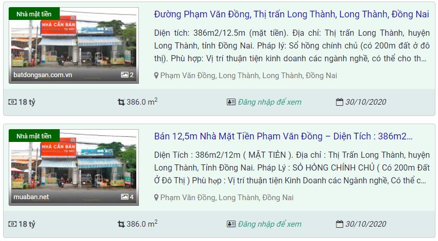 Giá đất ở tại đô thị đường Phạm Văn Đồng, Long Thành, Đồng Nai - Ảnh 4.