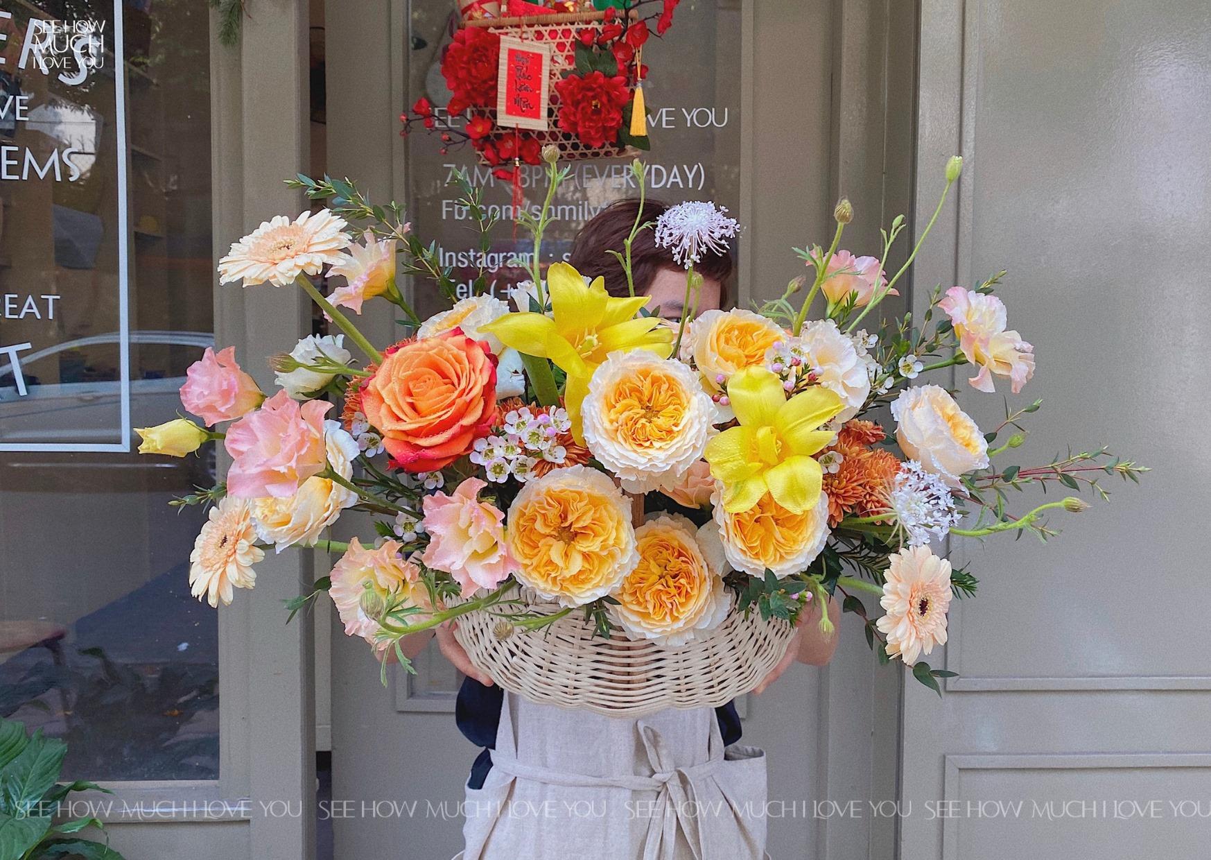 Tham khảo các mẫu lẵng hoa đẹp ngày 8/3 dành tặng phái nữ  - Ảnh 4.