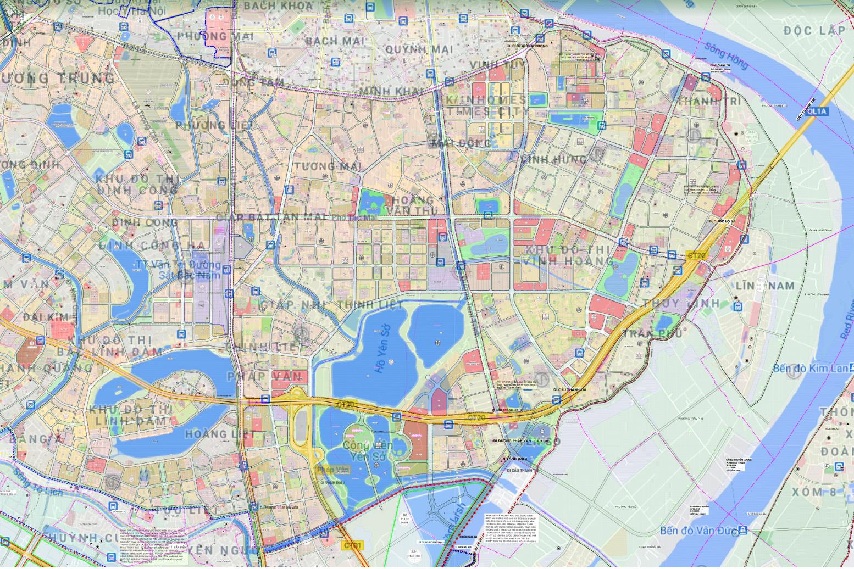 Bản đồ quy hoạch sử dụng đất quận Hoàng Mai, Hà Nội - Ảnh 2.