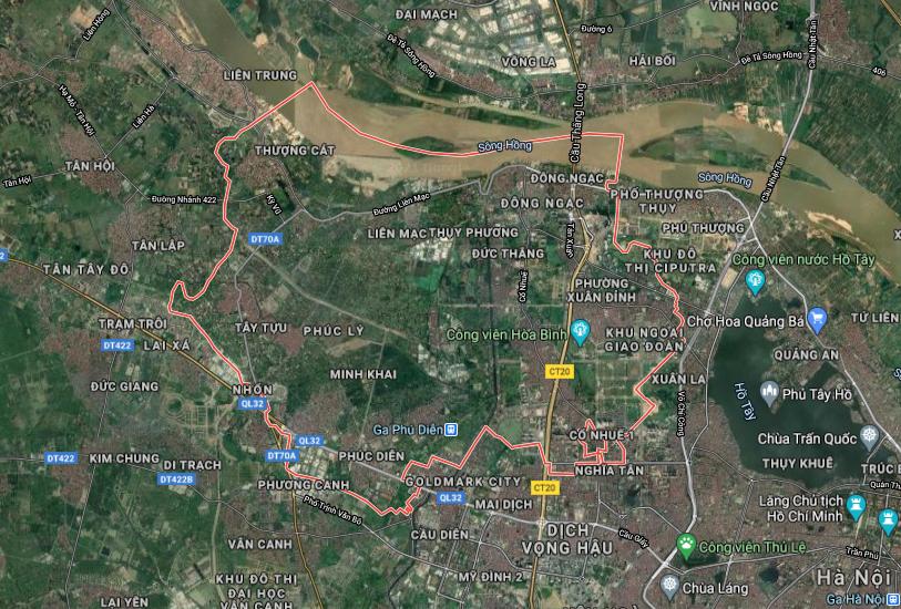 Bản đồ quy hoạch sử dụng đất quận Bắc Từ Liêm, Hà Nội - Ảnh 1.