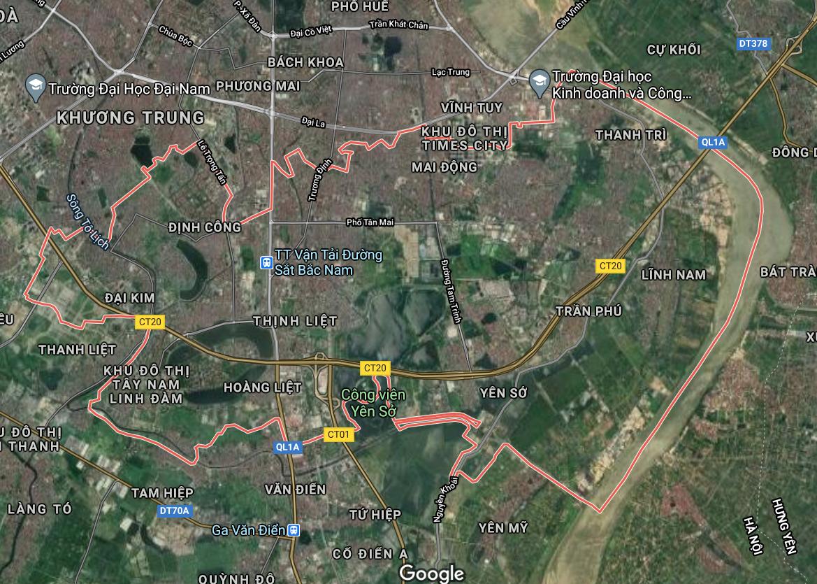 Bản đồ quy hoạch sử dụng đất quận Hoàng Mai, Hà Nội - Ảnh 1.