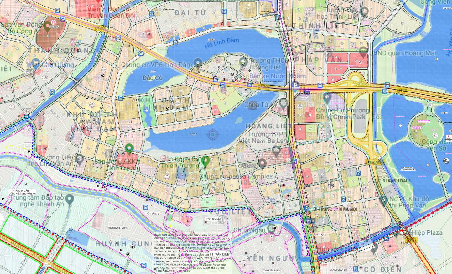 Bản đồ quy hoạch sử dụng đất phường Hoàng Liệt, Hoàng Mai, Hà Nội - Ảnh 2.