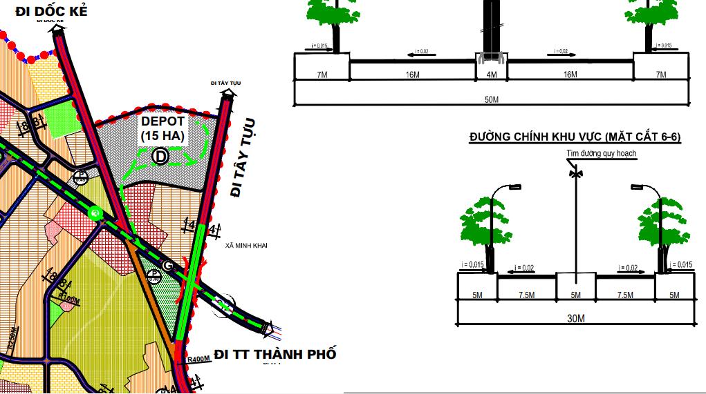 Bản đồ quy hoạch giao thông quận Bắc Từ Liêm, Hà Nội - Ảnh 4.