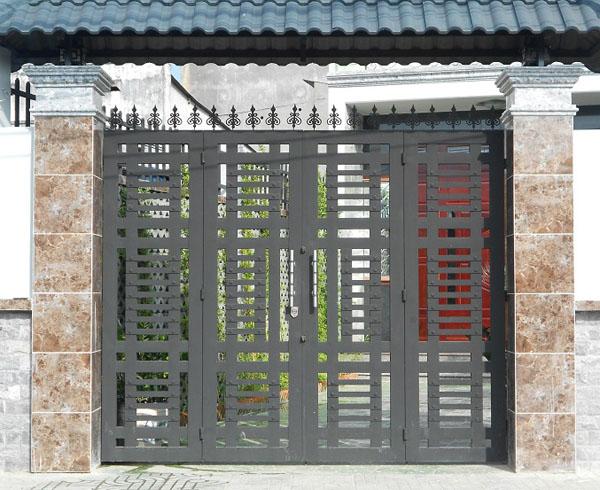 Gợi ý các mẫu cổng sắt đẹp, nổi bật trong năm 2021  - Ảnh 6.
