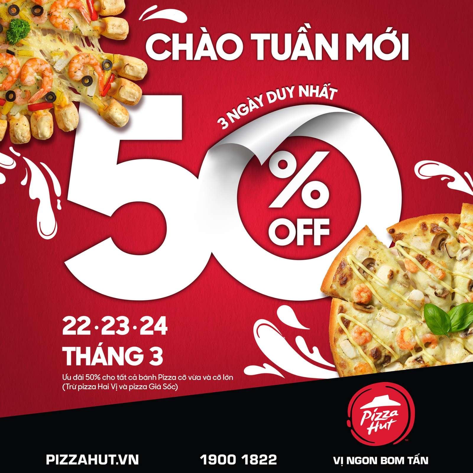 Khuyến mãi ăn uống tuần này (22/3-28/3): Pizza Hut giảm 50%, ToCoToCo 'mua 2 tặng 1' - Ảnh 1.