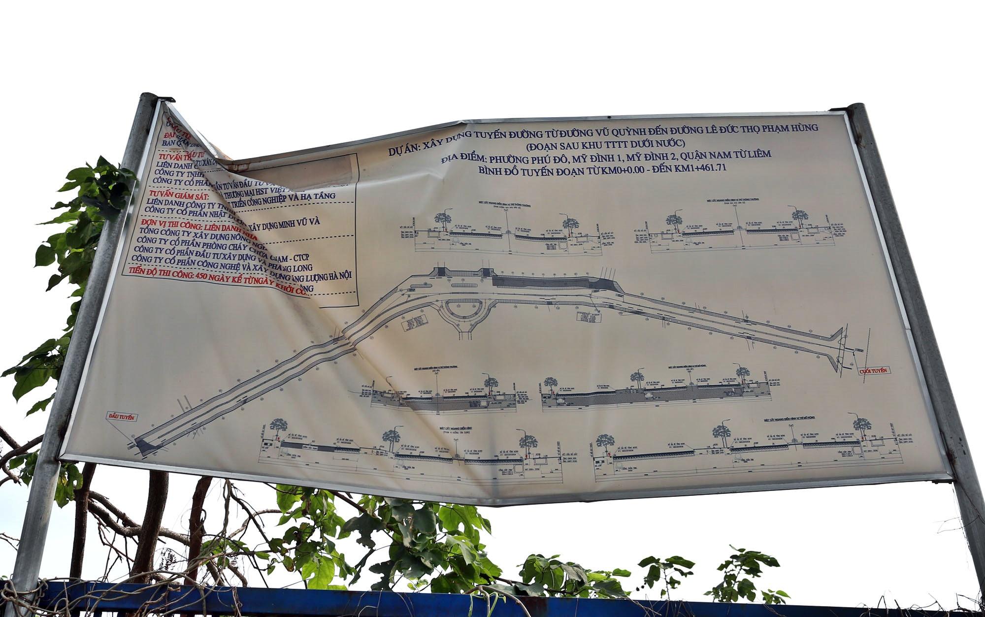 Toàn cảnh đường từ Vũ Quỳnh đến Lê Đức Thọ - Phạm Hùng đang mở theo quy hoạch ở Hà Nội - Ảnh 14.