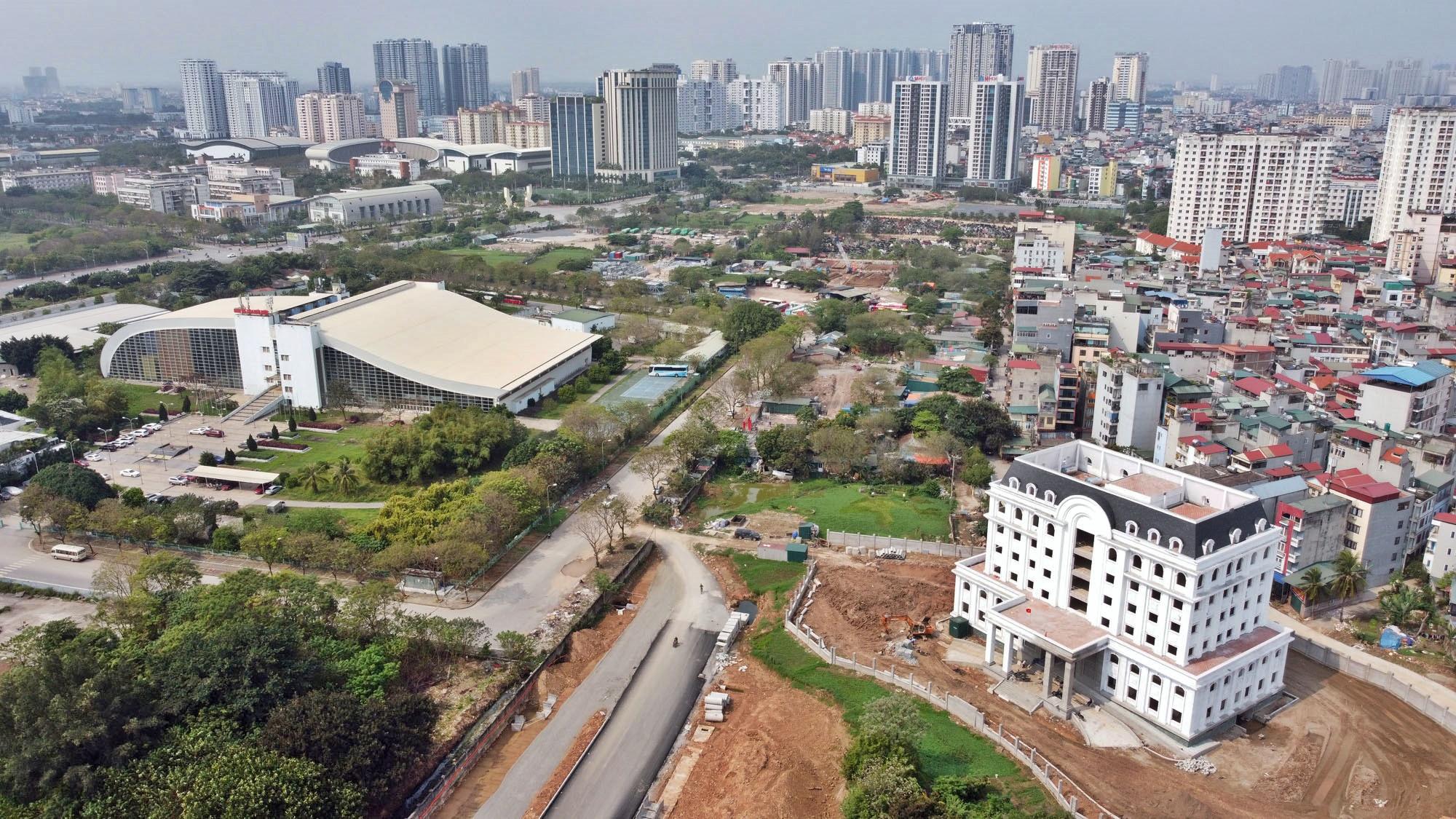 Toàn cảnh đường từ Vũ Quỳnh đến Lê Đức Thọ - Phạm Hùng đang mở theo quy hoạch ở Hà Nội - Ảnh 6.