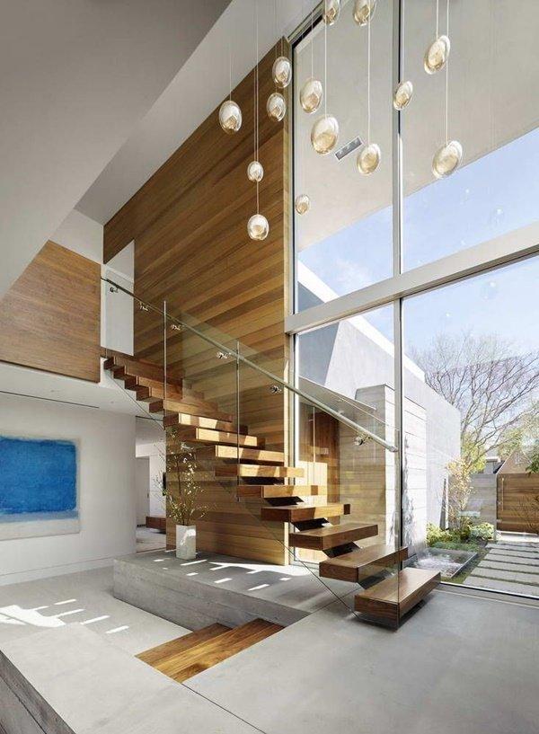 Tham khảo một số mẫu cầu thang gỗ đẹp và độc đáo năm 2021 - Ảnh 4.