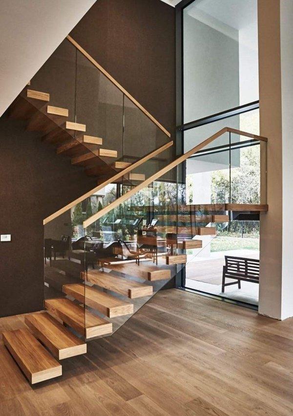 Tham khảo một số mẫu cầu thang gỗ đẹp và độc đáo năm 2021 - Ảnh 12.