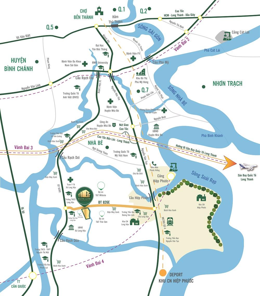 Khu đô thị Elite Life hưởng lợi từ loạt công trình trọng điểm phía Nam Sài Gòn - Ảnh 1.
