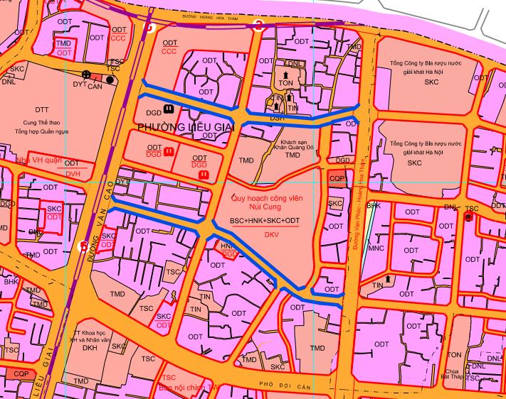 Đường sắp mở theo quy hoạch ở phường Liễu Giai, Ba Đình, Hà Nội (phần 3): Hai đường nối từ Văn Cao đến đường Vạn Phúc - Hoàng Hoa Thám  - Ảnh 1.