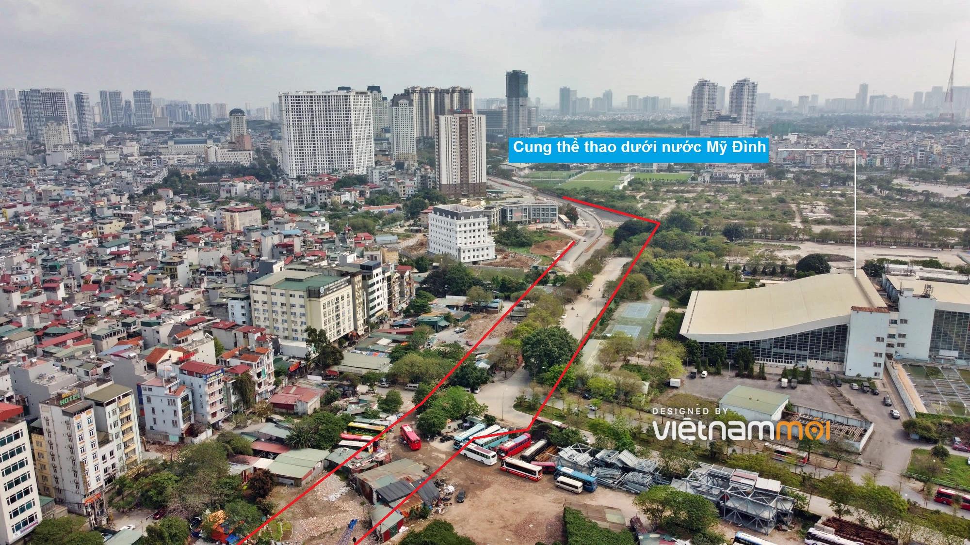 Toàn cảnh đường từ Vũ Quỳnh đến Lê Đức Thọ - Phạm Hùng đang mở theo quy hoạch ở Hà Nội - Ảnh 9.