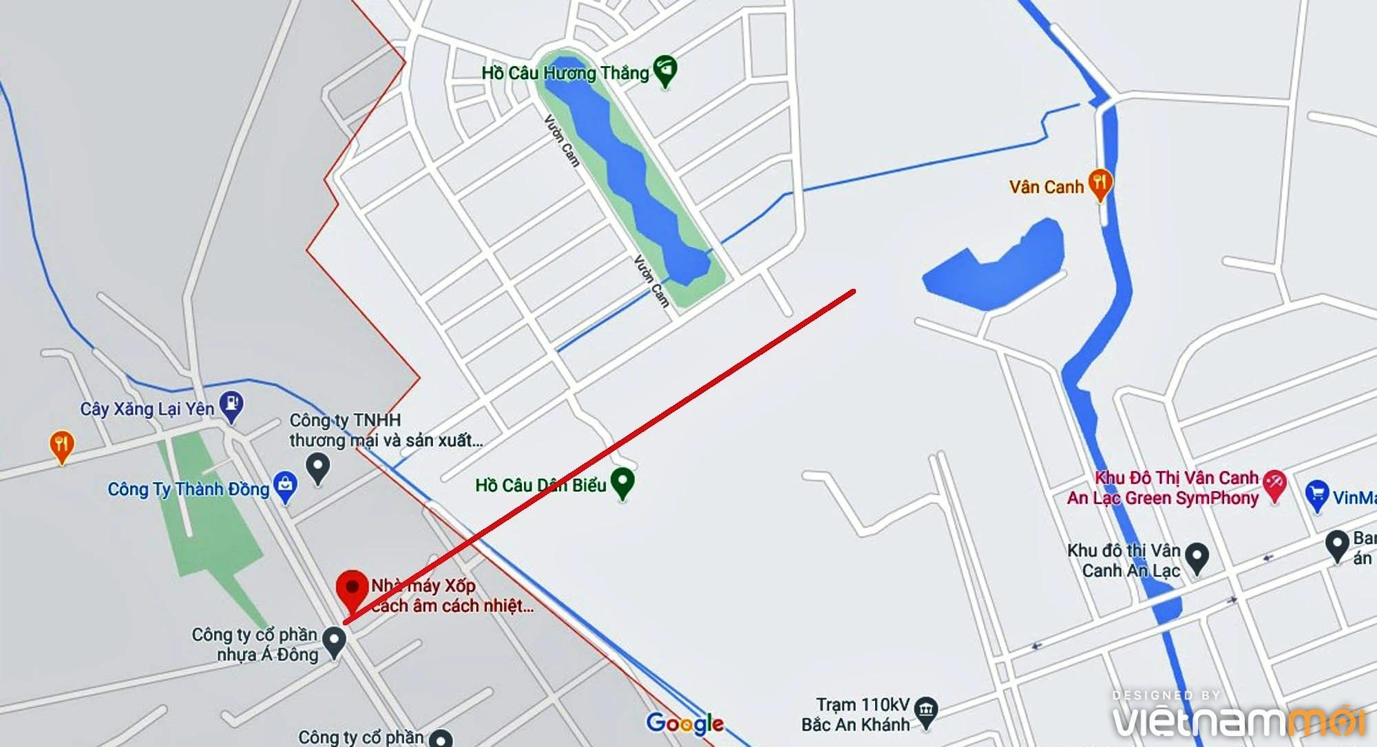 Đường sẽ mở theo quy hoạch ở xã Vân Canh, Hoài Đức, Hà Nội (phần 4) - Ảnh 2.