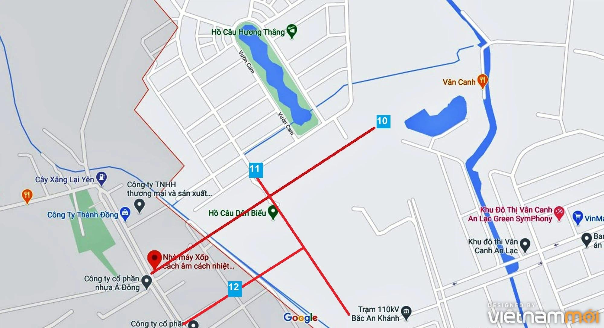 Đường sẽ mở theo quy hoạch ở xã Vân Canh, Hoài Đức, Hà Nội (phần 4) - Ảnh 10.