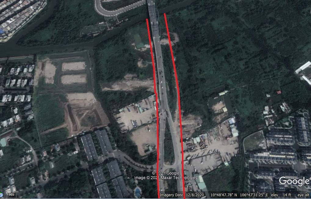 Vị trí sẽ mở Vành đai 2 TP HCM trong TP Thủ Đức (phần 4): Đoạn từ Quốc lộ 52 tới cầu Phú Hữu - Ảnh 2.