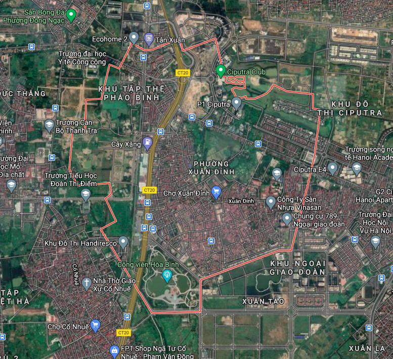 Kế hoạch sử dụng đất phường Xuân Đỉnh, Bắc Từ Liêm, Hà Nội năm 2021 - Ảnh 2.