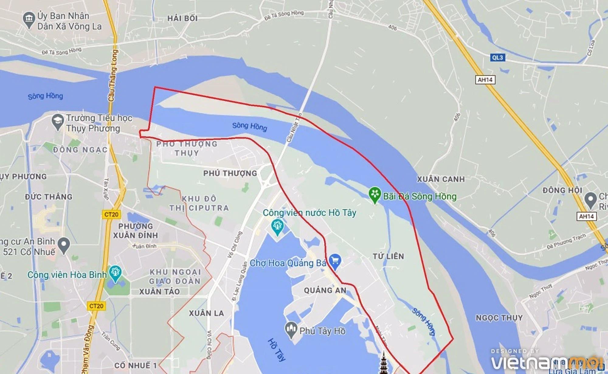 Toàn cảnh hiện trạng Phân khu đô thị sông Hồng trên địa bàn quận Tây Hồ - Ảnh 1.