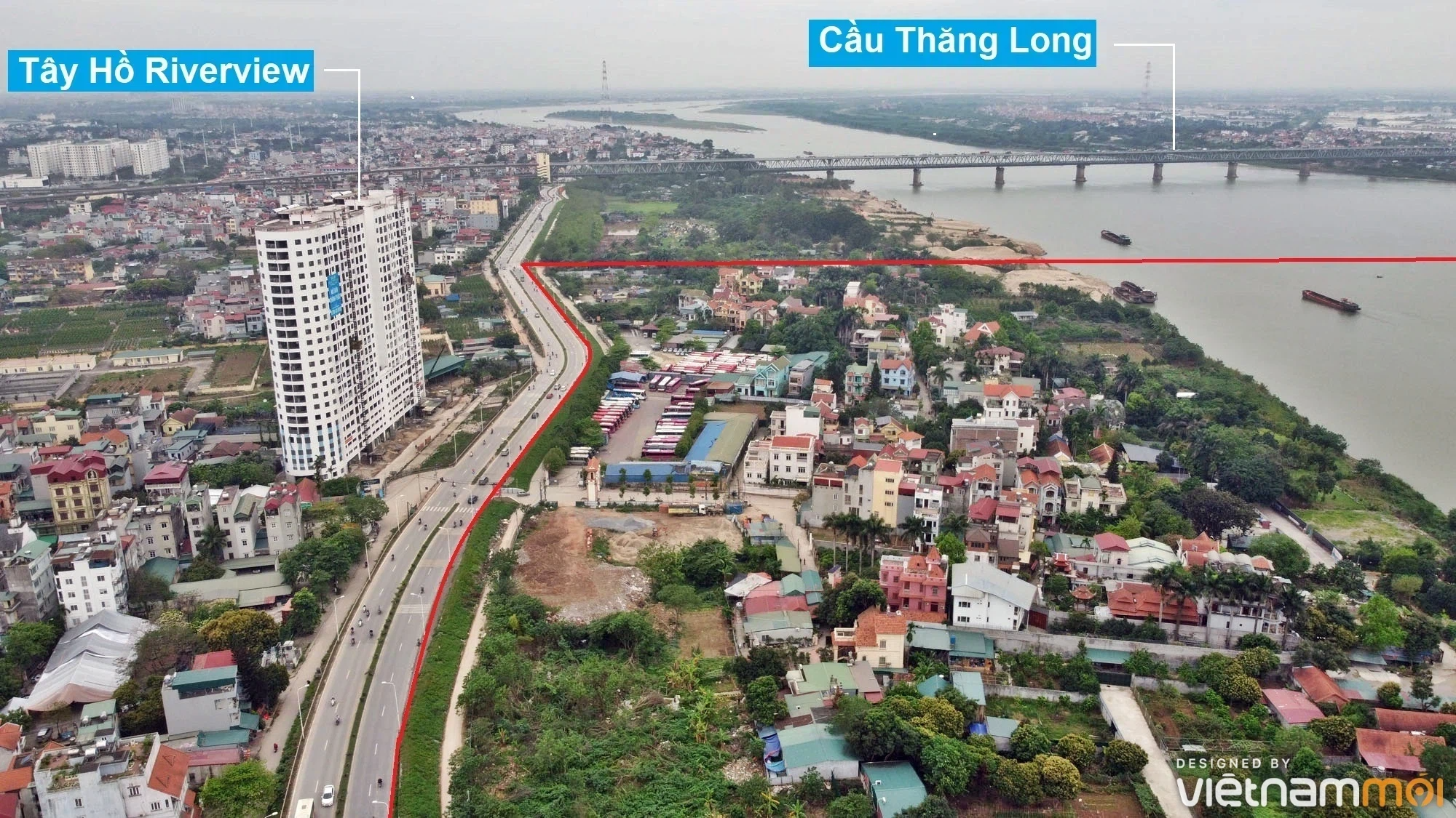 Toàn cảnh hiện trạng Phân khu đô thị sông Hồng trên địa bàn quận Tây Hồ - Ảnh 2.