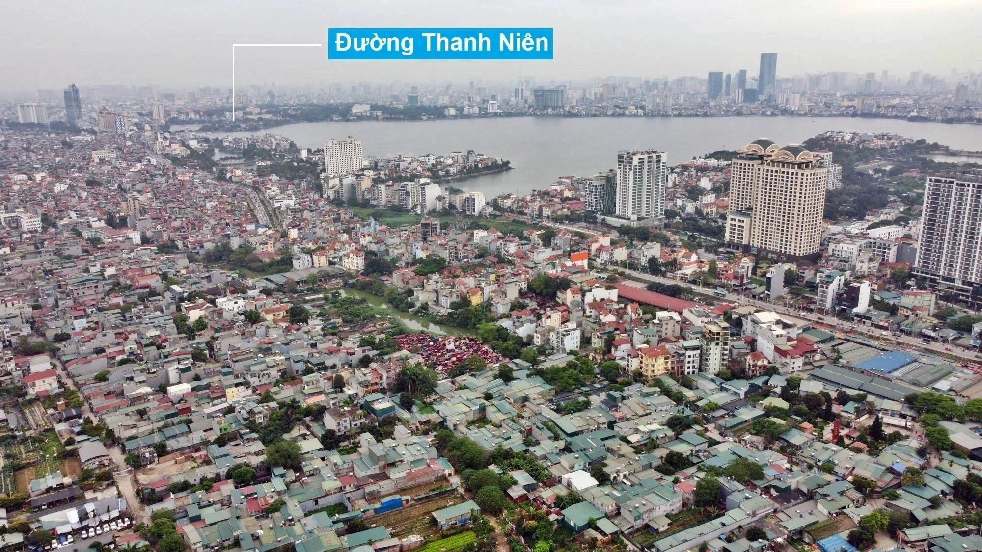 Toàn cảnh hiện trạng Phân khu đô thị sông Hồng trên địa bàn quận Tây Hồ - Ảnh 21.