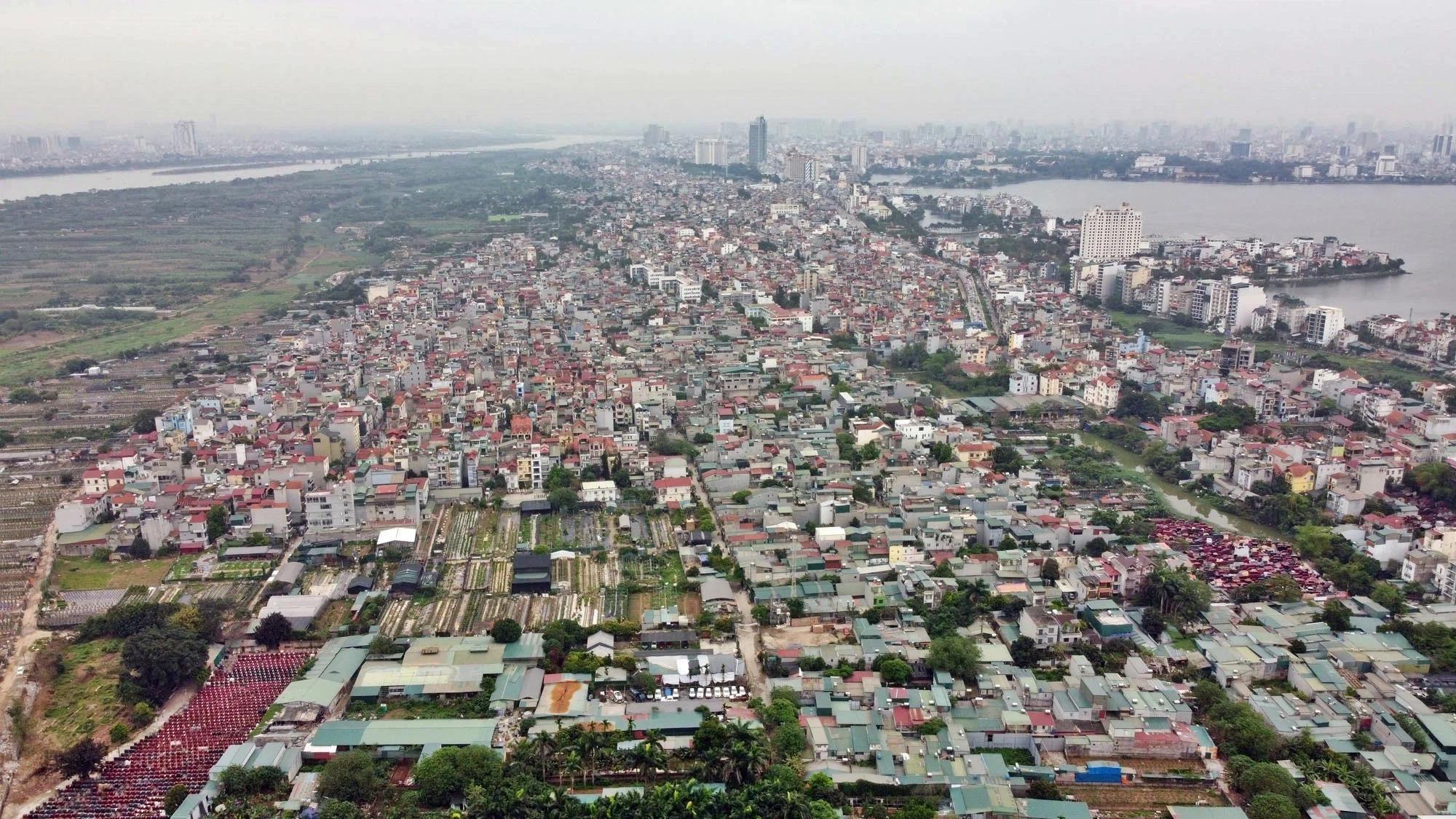 Toàn cảnh hiện trạng Phân khu đô thị sông Hồng trên địa bàn quận Tây Hồ - Ảnh 22.