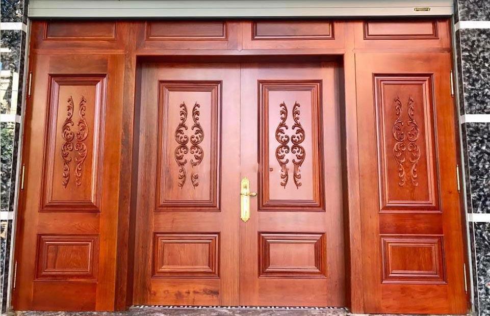 Tham khảo các mẫu cửa gỗ 4 cánh đẹp nhất năm 2021 - Ảnh 2.