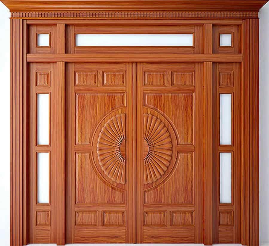 Tham khảo các mẫu cửa gỗ 4 cánh đẹp nhất năm 2021 - Ảnh 13.