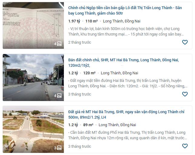 Giá đất ở tại đô thị đường Hai Bà Trưng, Long Thành, Đồng Nai - Ảnh 3.