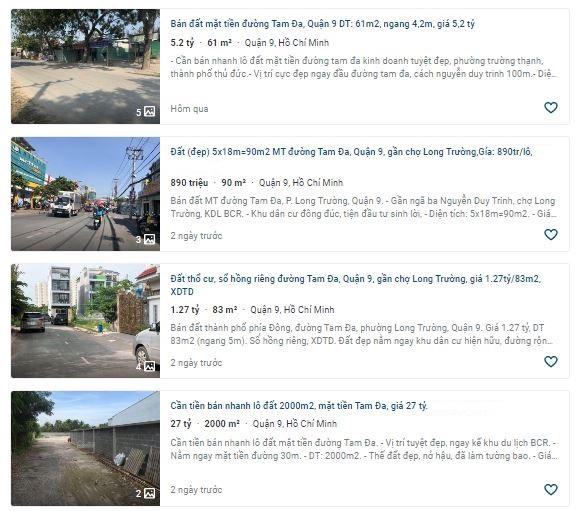 Giá đất đường Tam Đa, quận 9, TP Thủ Đức, TP HCM - Ảnh 3.