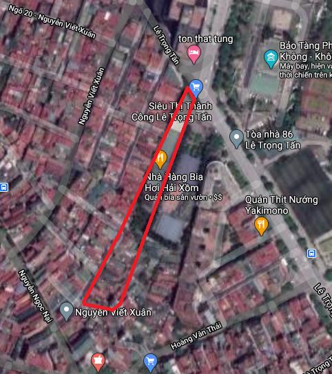 Hai khu đất dính quy hoạch ở phường Khương Mai, Thanh Xuân, Hà Nội - Ảnh 2.