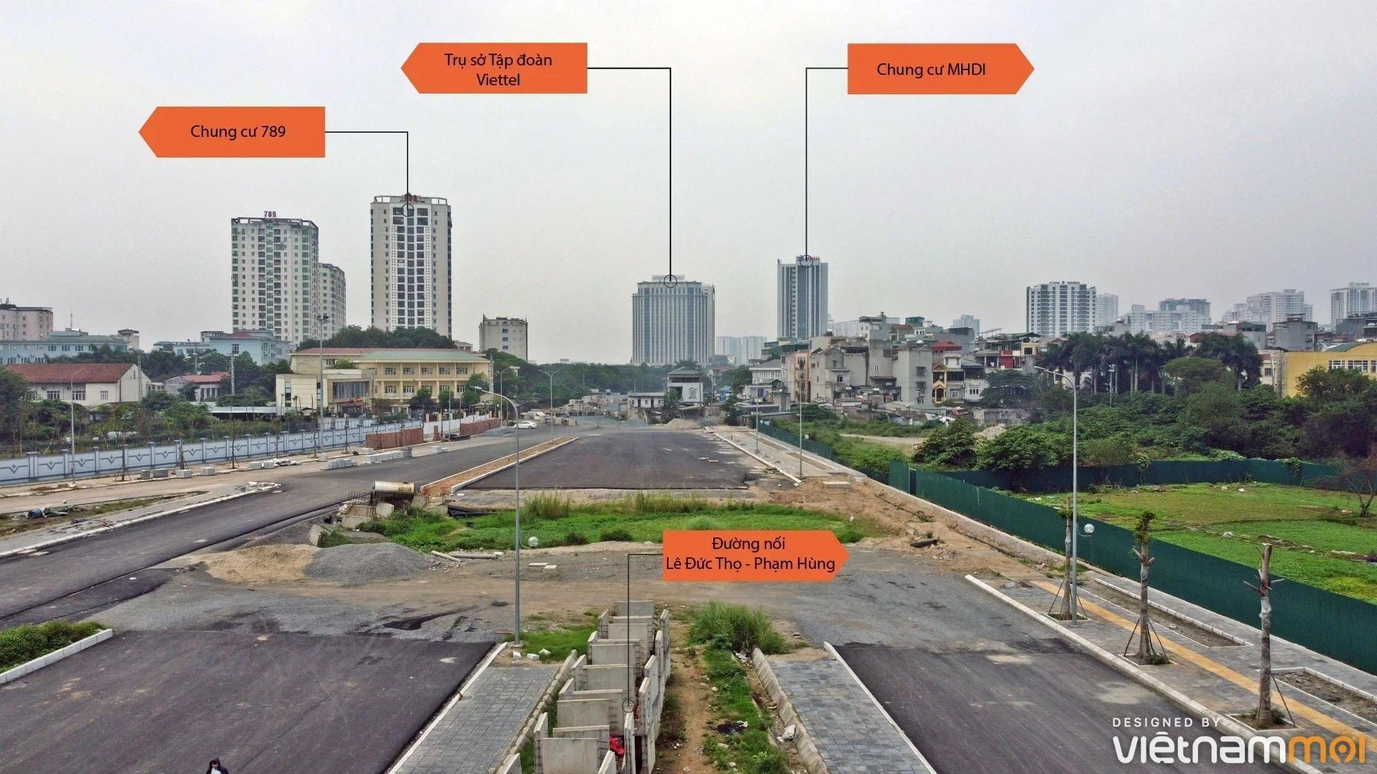 Toàn cảnh đường nối Lê Đức Thọ - Phạm Hùng đang mở theo quy hoạch ở Hà Nội - Ảnh 3.