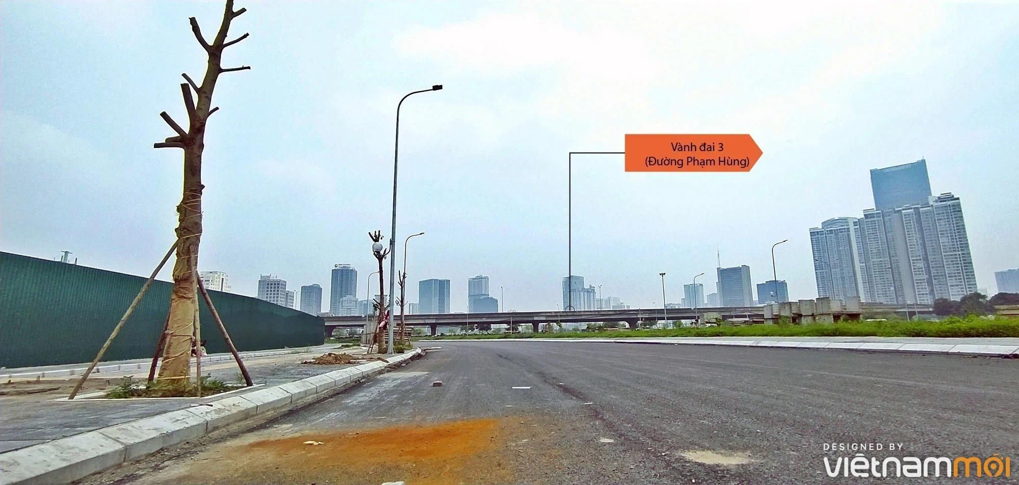 Toàn cảnh đường nối Lê Đức Thọ - Phạm Hùng đang mở theo quy hoạch ở Hà Nội - Ảnh 4.