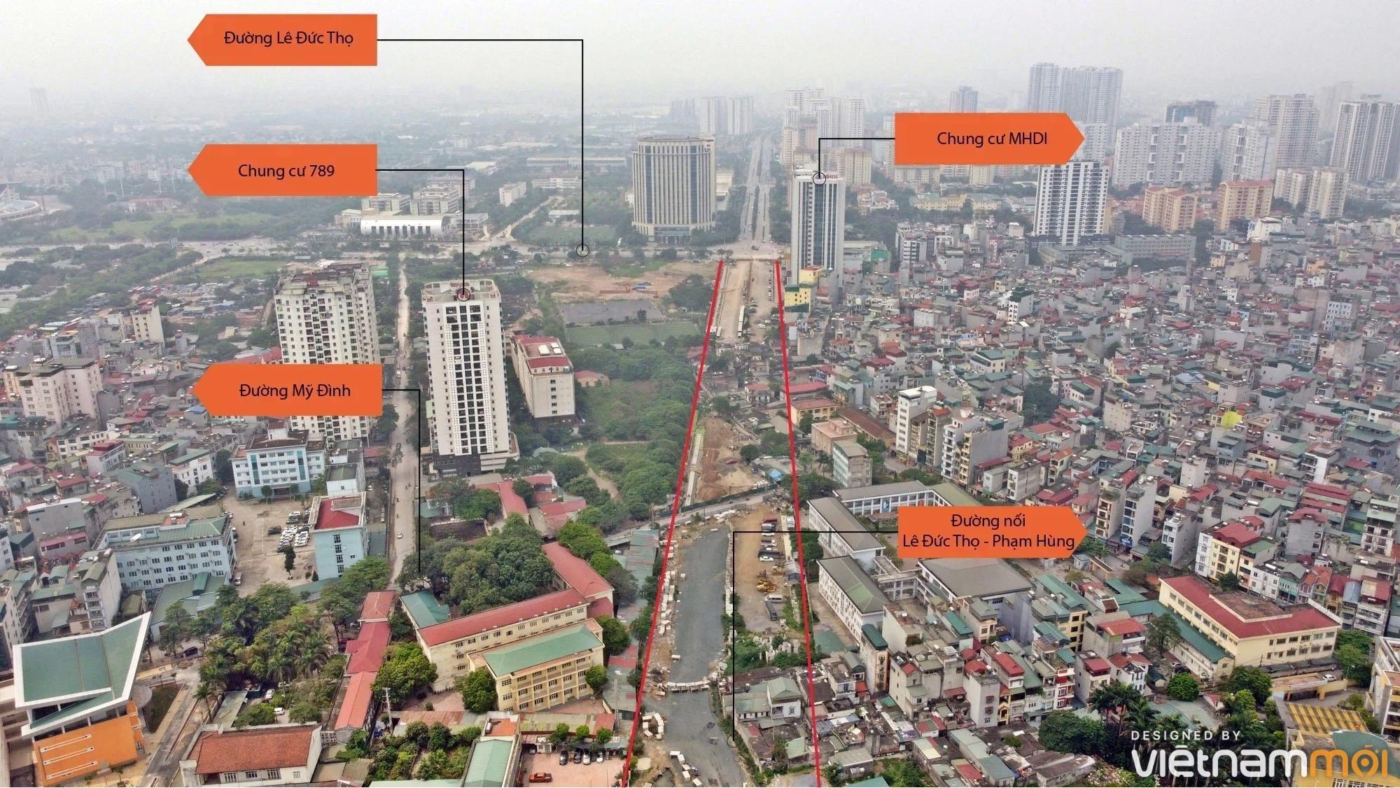Toàn cảnh đường nối Lê Đức Thọ - Phạm Hùng đang mở theo quy hoạch ở Hà Nội - Ảnh 6.