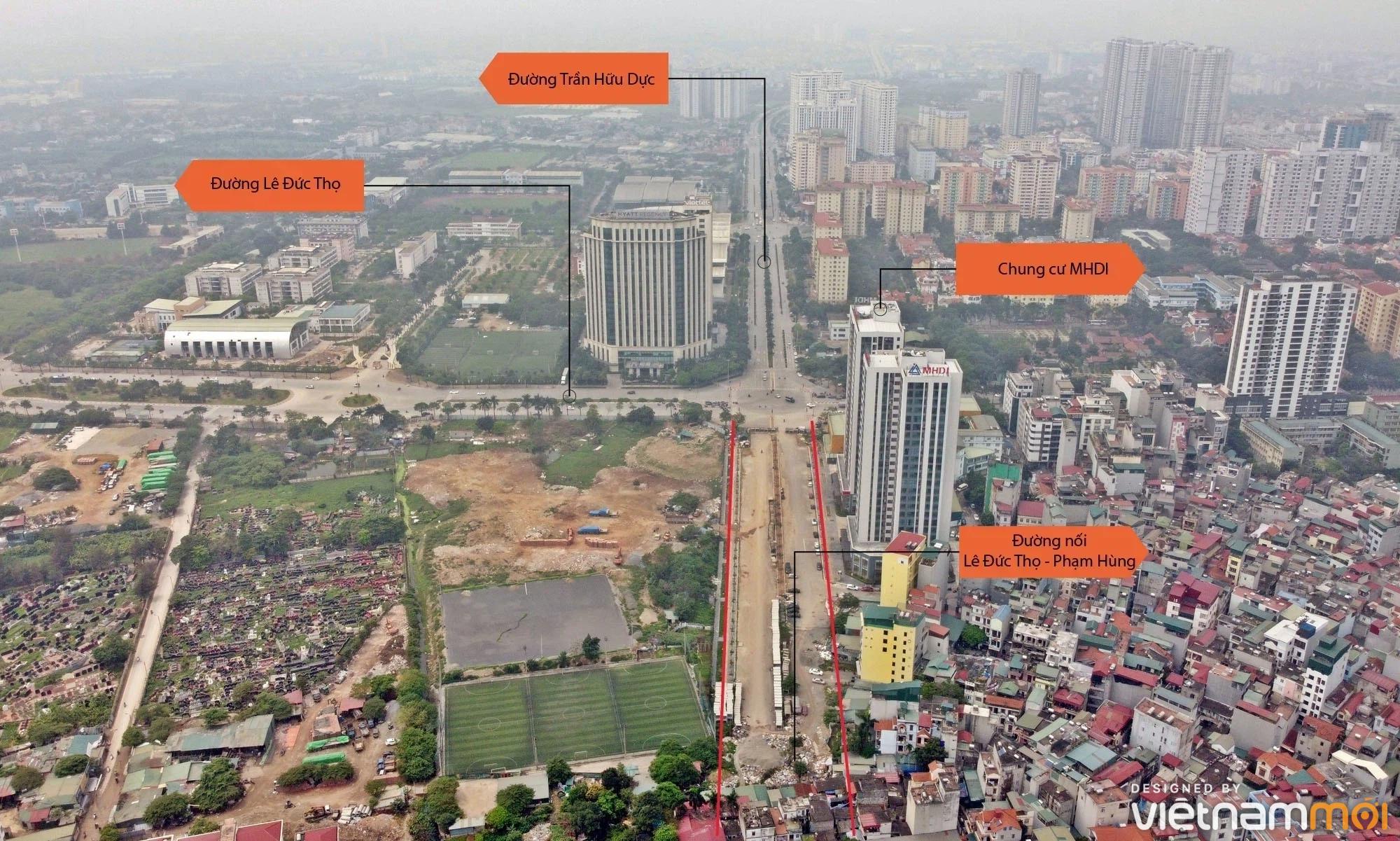 Toàn cảnh đường nối Lê Đức Thọ - Phạm Hùng đang mở theo quy hoạch ở Hà Nội - Ảnh 12.