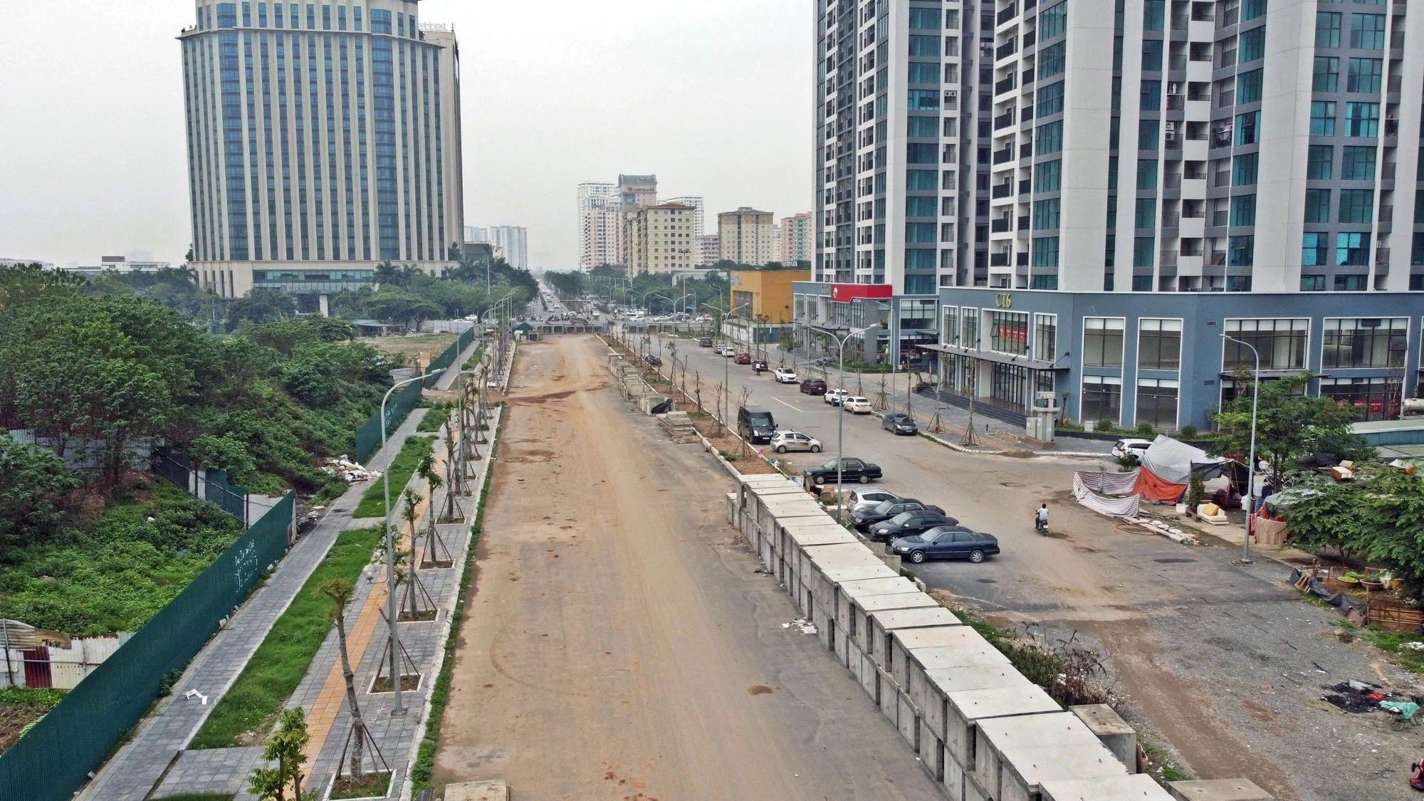 Toàn cảnh đường nối Lê Đức Thọ - Phạm Hùng đang mở theo quy hoạch ở Hà Nội - Ảnh 13.
