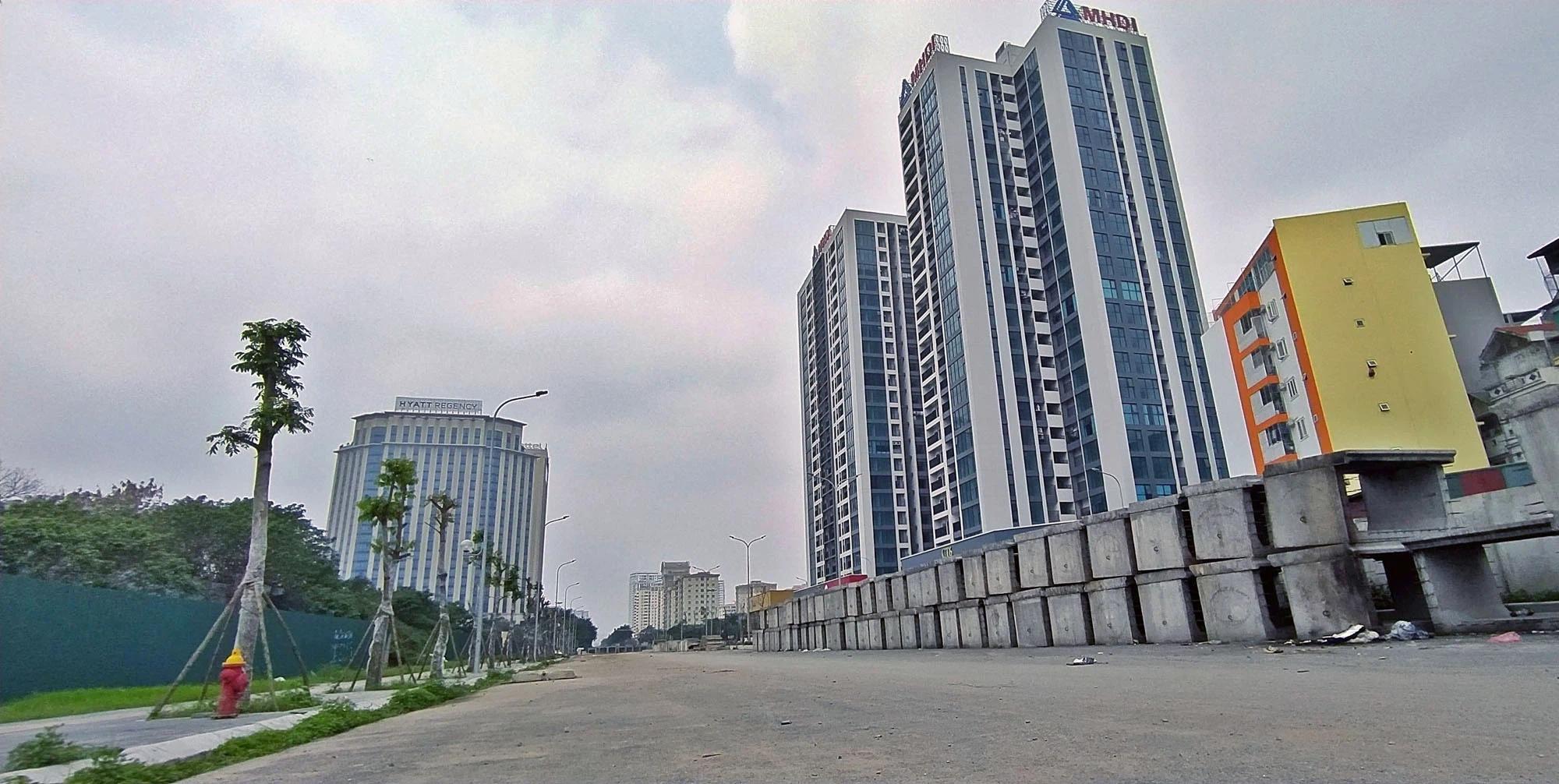 Toàn cảnh đường nối Lê Đức Thọ - Phạm Hùng đang mở theo quy hoạch ở Hà Nội - Ảnh 14.