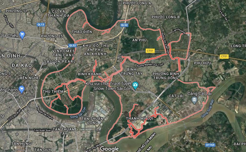 Bản đồ quy hoạch sử dụng đất quận 2, Thủ Đức, TP HCM - Ảnh 1.