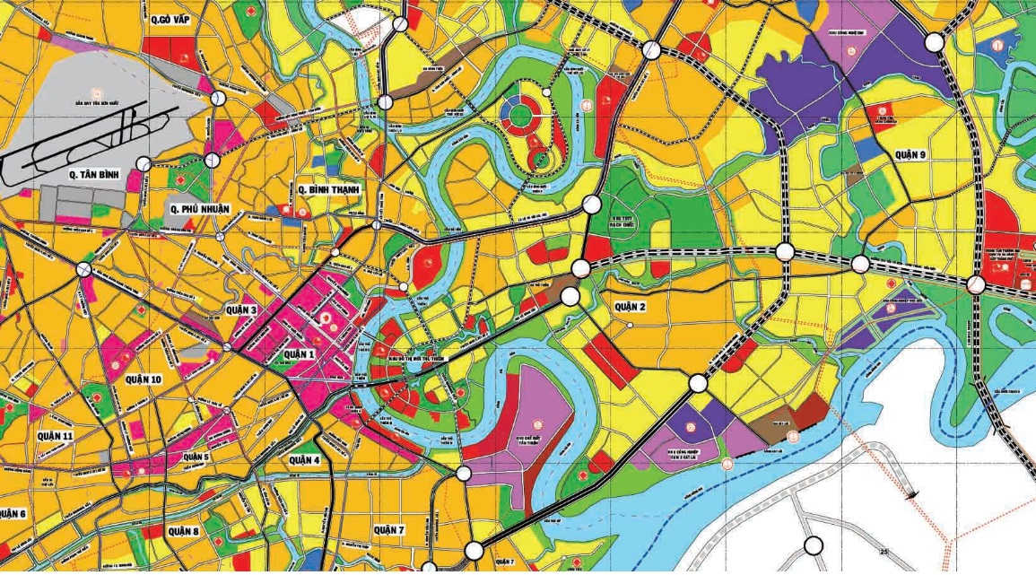 Bản đồ quy hoạch sử dụng đất quận 2, Thủ Đức, TP HCM - Ảnh 3.