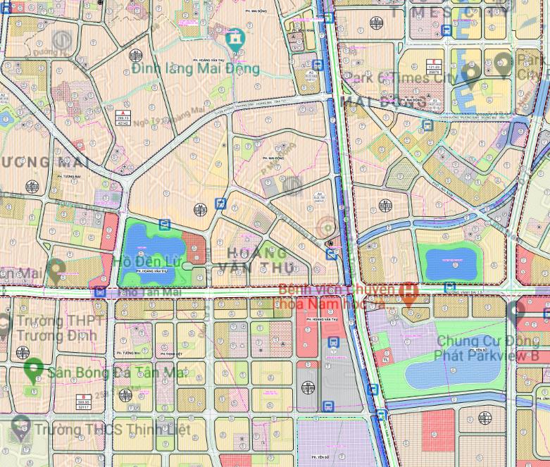 Bản đồ quy hoạch sử dụng đất phường Hoàng Văn Thụ, Hoàng Mai, Hà Nội - Ảnh 2.